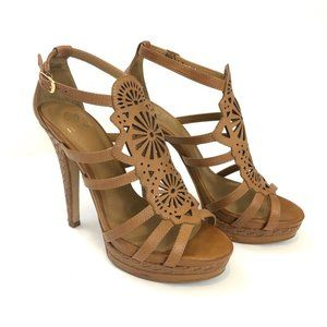 Brown Leather Strappy Isola Delanna Sandal